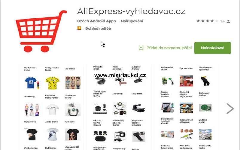 Google Play Aliexpress vyhledávač