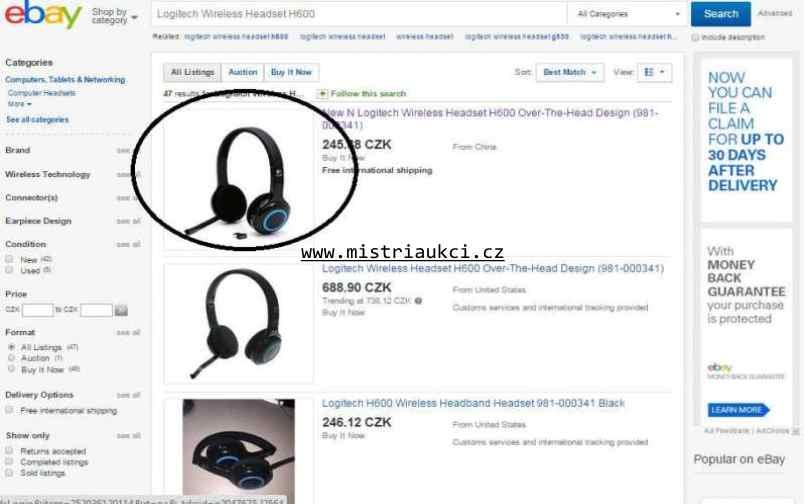 nakupování na ebay