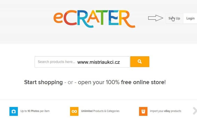 ecrater sign up