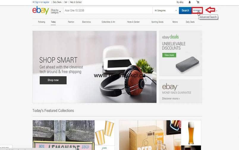 Ebay pokročilé hledání