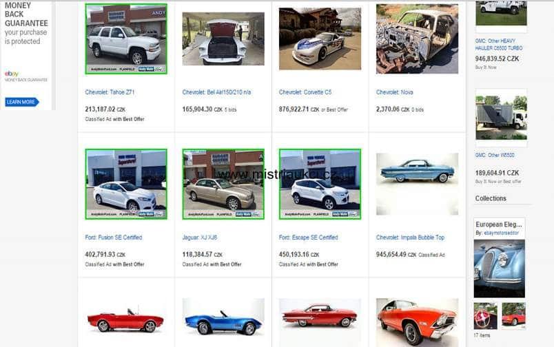 nabídka automobilů