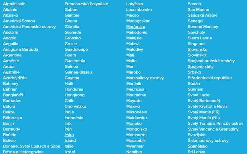 Seznam zemí 1