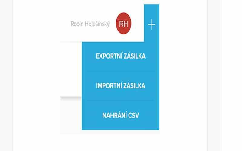 import export zásilek