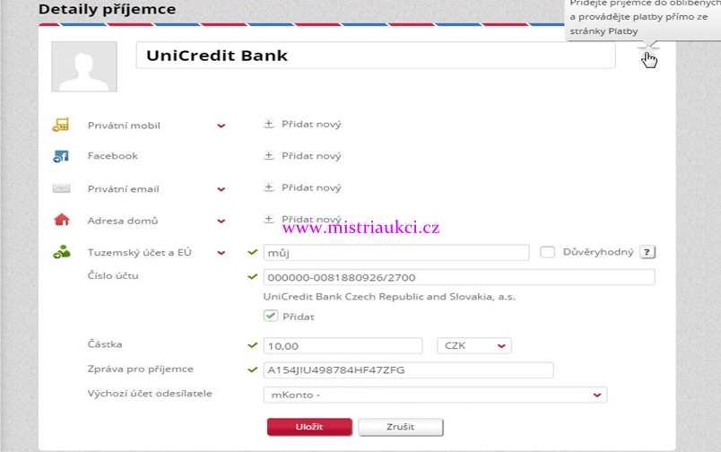 nové dobíjení Paypalu přes Mbanku