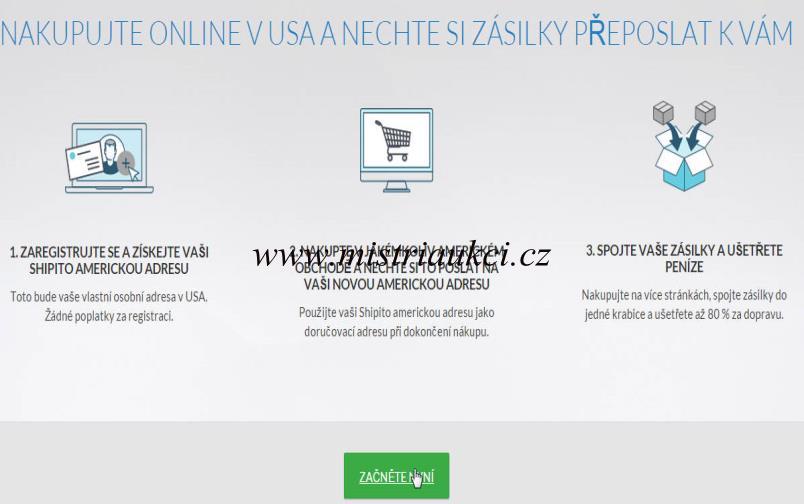 registrace na shipito