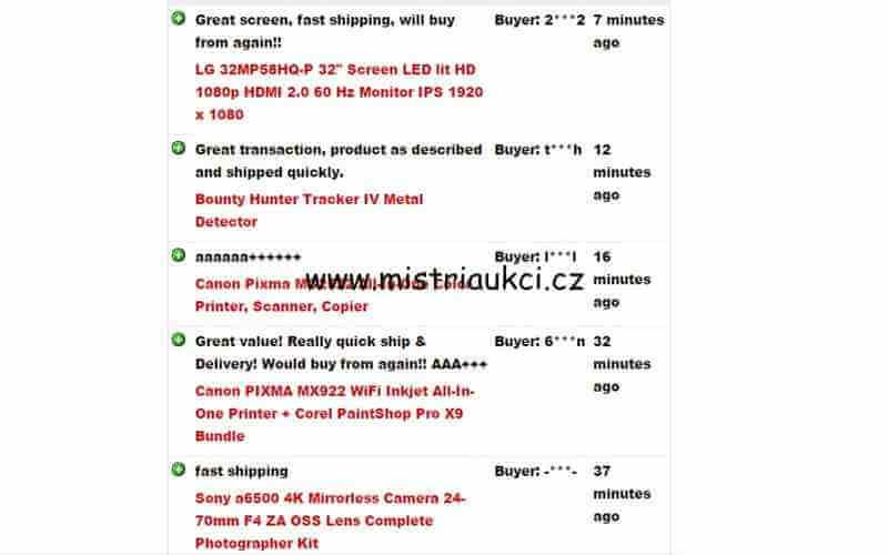 Hodnocení prodejce