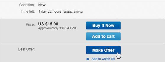 ebay aukce s nabídkami