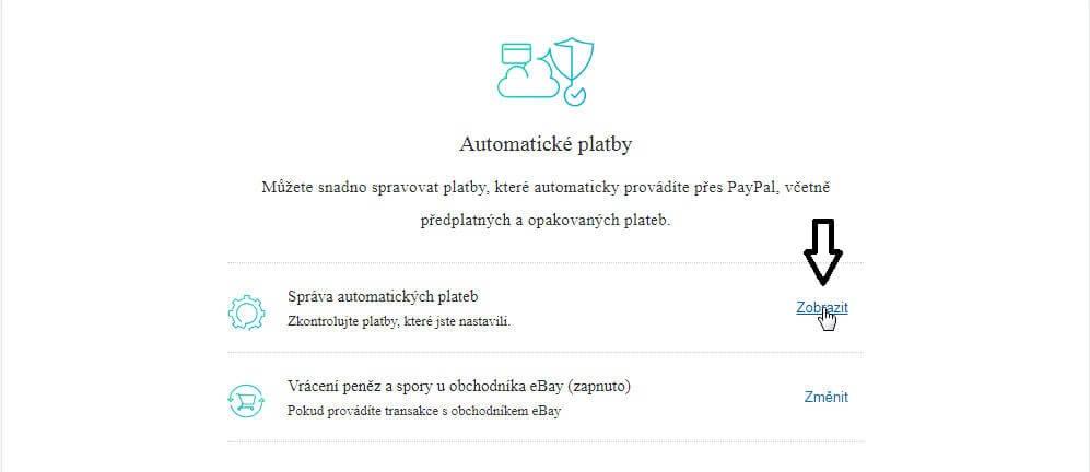 správa automatických plateb