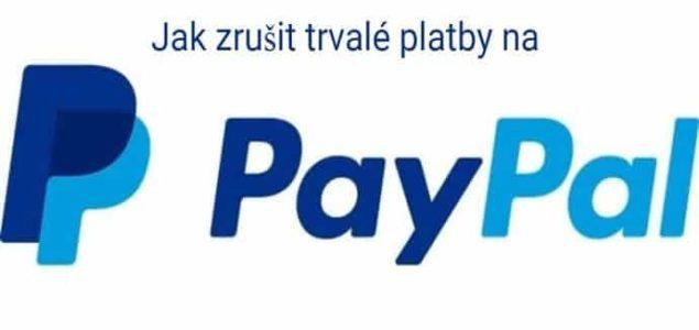 vypnutí automatických plateb na paypalu