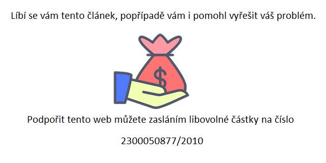 podpora webu